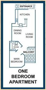 pearly shells 1 bedroom plan